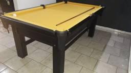Mesa Tentação Faça o Pedido Cor Marrom Escuro Tecido Amarela Mod. DKTS6709