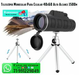 Telescópio Monocular Para Celular 40x60 Alto Alcance 1500m
