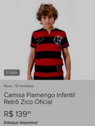 Camisa retrô infantil do Flamengo