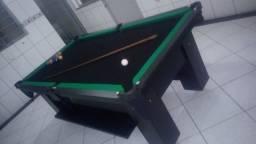 Mesa Charme Semi Oficial Cor Preta Tecido Preto e Borda Verde Mod. NISX358