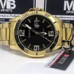 Relógio Masculino North 7759 Data automática