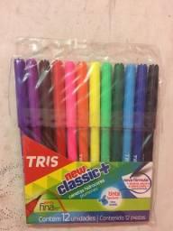Kit 12 canetas hidrocores