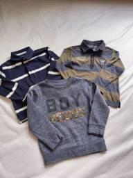 Trio Camisetas e Moletinho 3T