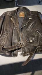 Jaqueta de couro masculina Carmim