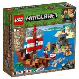 Lego Minecraft aventura no navio pirata
