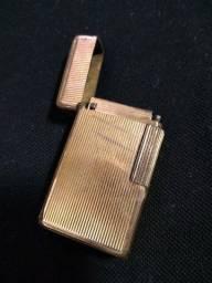 Antigo Isqueiro Francês Dupont plaquet em ouro
