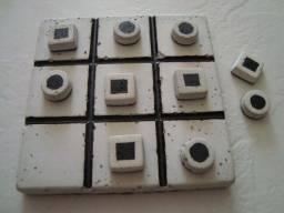 Jogo da velha totalmente em cimento - opção de lazer/presente