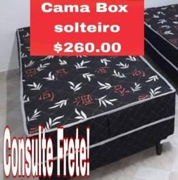 Cama Box conjugado fixo na base !!
