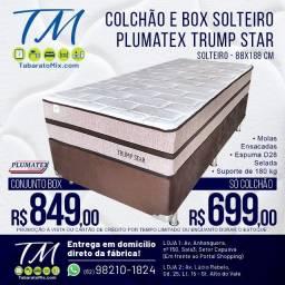 Preço de Fábrica! Colchão Solteiro Plumatex Trump Star R$699,00! Entrega Grátis