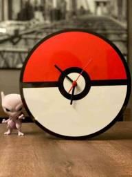 Frete Gratis Relógio de Parede Temático Pokébola Pokémon Apenas 3 Em Estoque