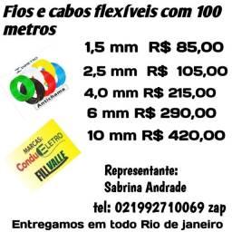 Fios flexíveis com 100 Metros