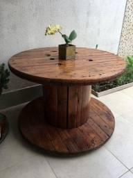 Mesa de bobina/carretel de madeira