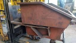 Caçamba container caixa cavaco e sucata autobasculante