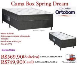 Título do anúncio: Cama box Spring Dream Ortobom/ Frete à consultar .