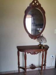 Espelho  e aparador vintage