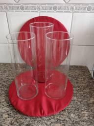 Vasos tubo de vidro leia a descrição.