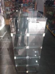 Estante de vidro face