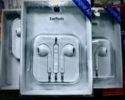 Fone de ouvido padrão do iPhone novo frete grátis