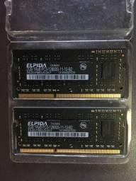 Memória Ddr3 Elpida Pc3-12800s 2GB 1600MHz - Notebook / Macbook
