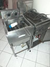 Forno de lastro ar condicionado e fritadeira