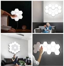 Título do anúncio: Led Hexagonal Touch Magnético Modular De Parede