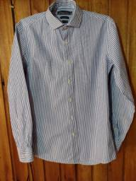 544 - Camisa slim social masculina - Tam M