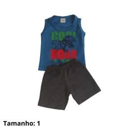 Conjunto roupa regata camiseta infantil short masculino tam.1