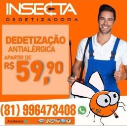 DEDETIZAÇÃO GERAL APARTIR DE 59,90