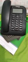 Telefone  com identificador  de chamada  novo  na caixa