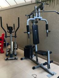 Musculação e simulador de caminhada