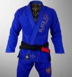 Kimono jiu jitsu azul Black Just fight, edição Premium