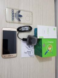 Moto G5 Plus 32gb Gold completo + Nota fiscal + Garantia