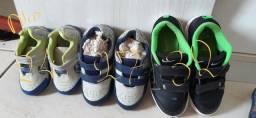 3 sapatos para bebê por R$100,00