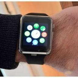 Smartwatch com entrada para chip | cartão de memória | Tela touch | Sincronizador de mens
