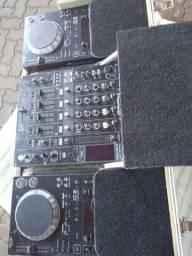 Kit cdj Pioneer 350 com djm800