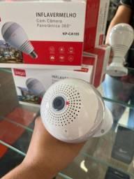Camera Ip Seguraca Lampada Vr 360-(Lojas Wiki)