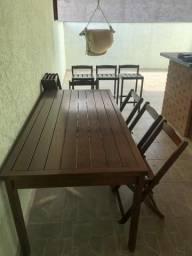 Baixei pra vender!!! Mesa área externa + 8 cadeiras + 3 banquetas