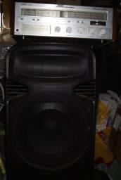 Caixa amplificada jumbo usb Bluetooth oneal opb4015 troco em vintage marantz