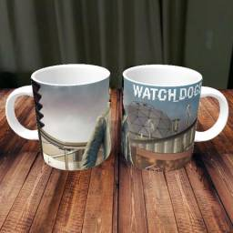Caneca Watch Dogs Games Porcelana 325ml #1992 Lkbjg Tegwr