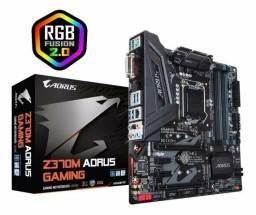 Placa Mãe 9 Geração Gigabyte Z370m Aorus Gaming