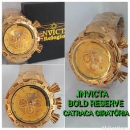 Invicta bold reserve. todo dourado