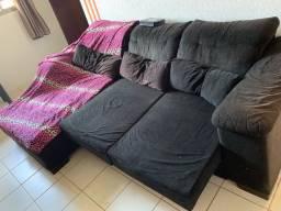 Sofá reclinável grande 2 partes