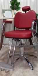 Cadeira hidráulica.