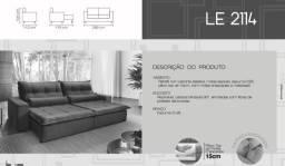Sofá retrátil e reclinável LE 2114 | 2,5m | NOVO