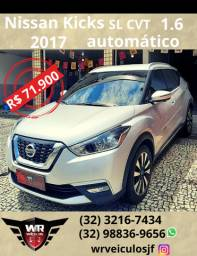 Nissan Kicks sl cvt 2017 1.6 automático