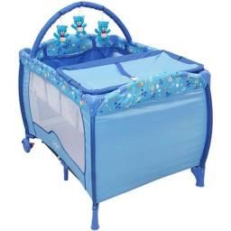 Berço Portátil Azul - Baby Style