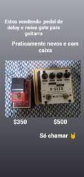 Pedal de guitarra delay e noise gate