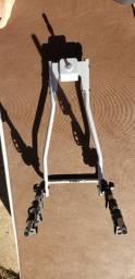 TransBike Thule para 3 bikes, suporte de placa e chicote elétrico