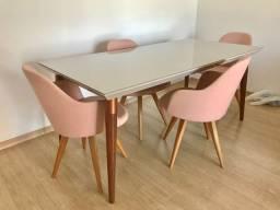 Cadeiras Chloe tok stok cor de rosa