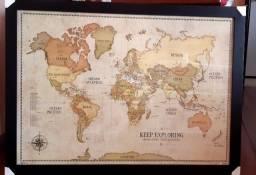 Quadro Mapa Mundi Vintage